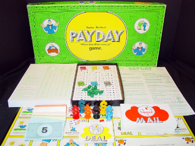 Payday 1974 Parker Brothers Game Pieces