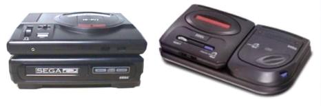 Sega CD Accessory - Top and Side Mounts