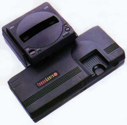 This is the TurboGrafx-16 with the TurboCD attachment.