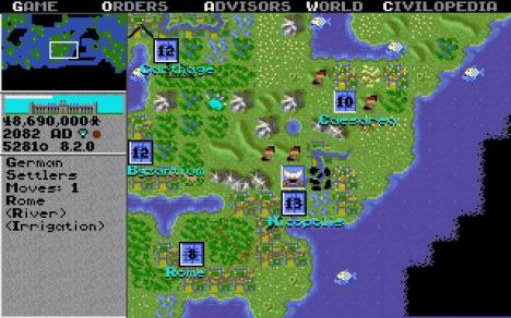 Screen shot from Sid Meier's Civilization