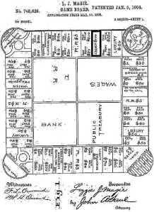 Elizabeth Magie's patent for The Landlord's Game.
