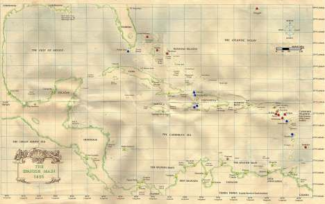 Sid Meier's Pirates! Game Map