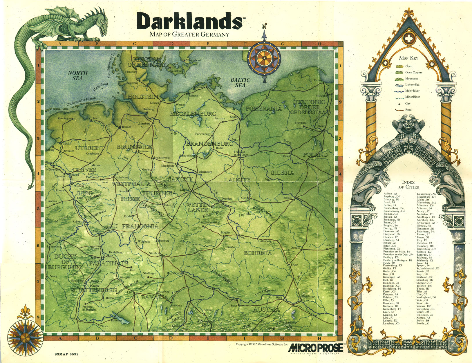 Retrogaming Game Maps Darklands PC Recycled Thoughts From A - Germany map lands