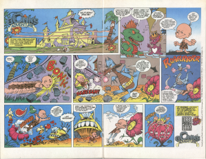 Bonk's Adventure ad from 1990