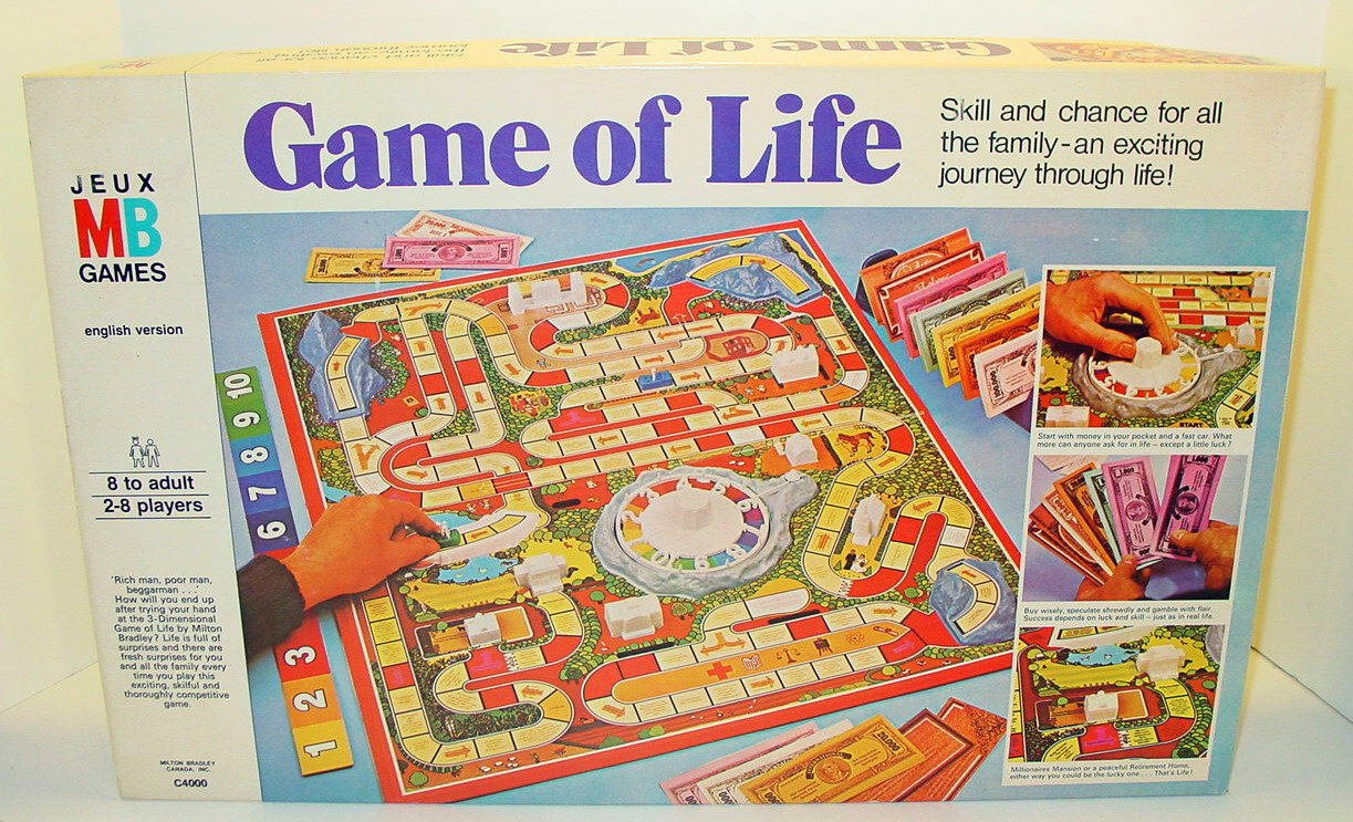 Box art for the 1977 Game of Life