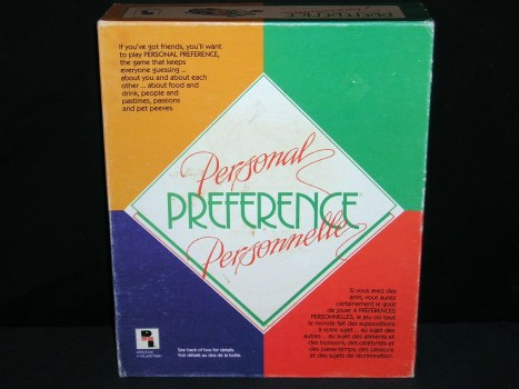 Personal Preference Box
